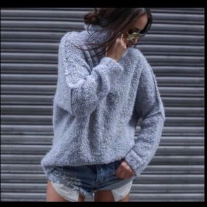 """Free People """"She's All That"""" Mock T-Neck Sweater"""